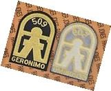 "US Army 509th Airborne Infantry Regiment GERONIMO 5"" pocket"