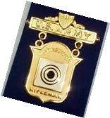 US Army Distinguished Rifle Qualification Badge Medal