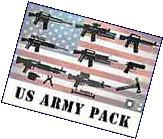 """US Army Guns Lot Scale 2"""" Custom Weapons pack compatible"""