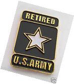 US ARMY RETIRED STAR LOGO Military Veteran Hat Pin 2nd