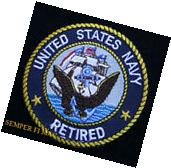 US NAVY RETIRED PATCH EAGLE USS PIN UP OFFICER CHIEF SAILOR RETIREMENT BOX GIFT
