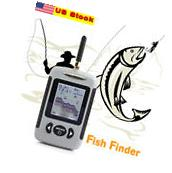 US Portable Fishing 100M Wireless Remote Control Alarm Sonar GPS Fish Finder