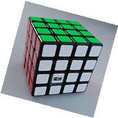 US Sell YJ Moyu Aosu 4x4 Magic Cube Speed Puzzle Black Brain