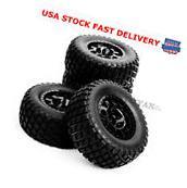 US Set RC 1:10 Short Course Truck Tires&Wheel Rim 12mm Hex