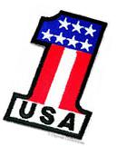 USA 1 EMBROIDERED PATCH AMERICAN FLAG ONE PATRIOTIC IRON-ON