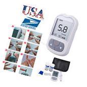 USA Blood Glucose Meter Test Sugar Monitor kit Diabetic +50 Test Strips, lancets