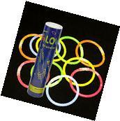 """USA NEW BlueDot 8"""" Glow in the Dark Sticks Bracelets - 100"""