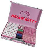 USA Hello KITTY Mahjong Game Set Acrylic Powder Gift Cute