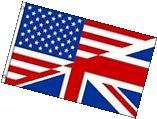 USA UK United Kingdom British American Friendship Flag