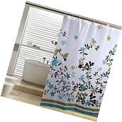 USA Waterproof Polyester Fabric Bathroom Shower Curtain