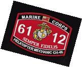 "USMC ""Helicopter Mechanic CH-46"" 6112 MOS Military Patch"