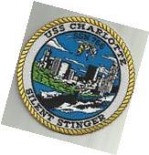 USS CHARLOTTE SSN 766 US.NAVY PATCH NUKE SUBMARINE SAILOR