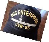 USS ENTERPRISE CVN-65 NAVY SHIP HAT U.S MILITARY OFFICIAL