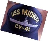 USS MIDWAY CV-41 NAVY SHIP HAT U.S MILITARY OFFICIAL BALL