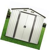8' x 8' Outdoor Utility Tool Storage Shed Backyard Garden