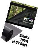 100% UV Block Heat Control Window Tint Vinyl Wrap Dark