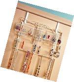 Jewelry Valet Organizer Hanger Rack Over the Door Wall Mount
