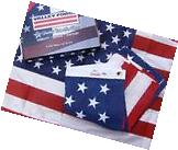 Valley Forge US American Flag 3'x5' Poly/Cotton Made in the