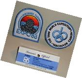 VANCOUVER CANADA EXPO 86 PATCH SET THE 1986 WORLD EXPOSITION