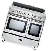 "Verona VEFSEE365DSS 36"" Electric Double Oven Range"