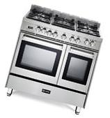 """Verona VEFSGE365NDSS 36"""" Pro-Style Dual Fuel Double Oven"""