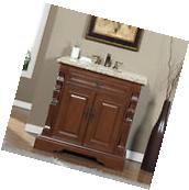 "36"" Venetian Gold Granite Stone Top Bathroom Vanity Single"