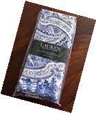 RALPH LAUREN VERANDA PAISLEY Indigo BLUE Cotton TABLECLOTH