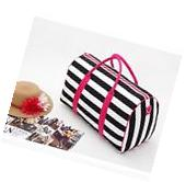 Victoria's Secret Duffle, Weekender, Gym Tote Bag Striped