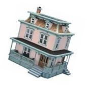 Lily Classic Victorian-Style Dollhouse Kit All-Wood with