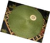 Benson Mills Victorian 15-Inch Round Placemats Chocolate Set