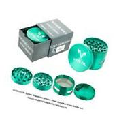 Viking Axe Small Magnetic Tobacco Grinder with Windows Green