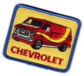 VINTAGE CHEVY VAN PATCH CHEVROLET UNUSED NOS EMBROIDERED