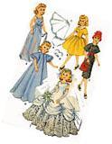 Vintage Doll Clothes Pattern 2342 for 12 inch Revlon Toni