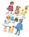 Vintage Doll Clothes PATTERN 7592 for 12 inch Teenie Weenie
