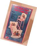 VINTAGE Doll Rocking Cradle & High Chair Set  by N.D. Cass