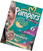 Vintage Pampers Baby Dry Size 6 Diapers From 09-12 30ct