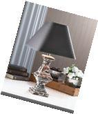 Vintage Look CERAMIC TABLE LAMP FABRIC Shade Furniture