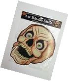 Vintage Beistle Nite Glo 16in Skulls Halloween Decorations