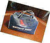 "VINTAGE NORTHWEST ORIENT CARRY ON TRAVEL BAG ""THE FAN-JET"