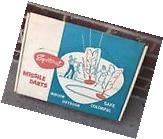 Vintage NOS 1950s Sportscraft Missile Darts Lawn Game