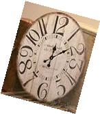 VINTAGE STYLE OVAL WALL CLOCK Large ANTIQUE STYLE Gallery