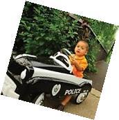 Kids Pedal Car Vintage Police Cruiser Steel Ride On Patrol