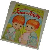 Vtg 1967 Whitman TINA & TRUDY Twins Kathy Lawrence Paper