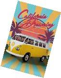 VW Volkswagen - California Dreaming Camper Van Poster -