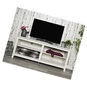 We Furniture W58CSPWW 58In Wood Tv Media Stand Storage