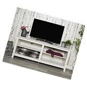 We Furniture W58CSPWW 58In Wood Tv Media Stand Storage