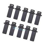 10Pcs Walkie Talkie Spare Part Back Belt Clip for Baofeng 2-way Radio UV5R #VIC