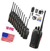 10 pcs Walkie Talkie Way Radio 2 Two Frs Gmrs Mile New