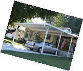 20' x 20' Wall Attached  Aluminum Carport Kit , Patio Cover