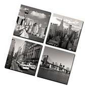 Wall Art Canvas Prints 4 Panels New York City Landmark